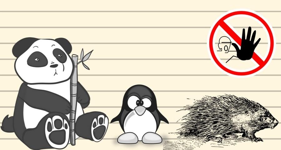 Penguins. Pandas. Porcupines